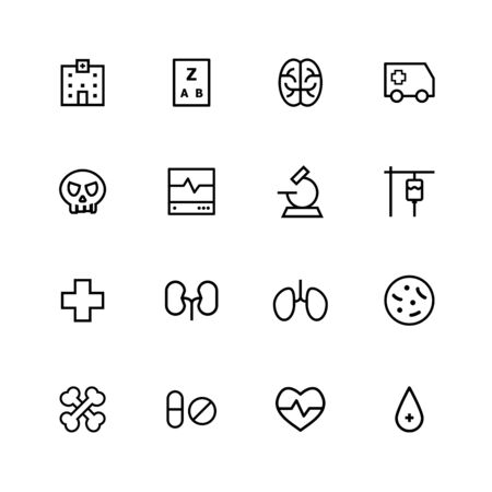 Medical line icon design Illustration