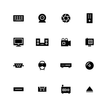 Multimedia icon design Illustration