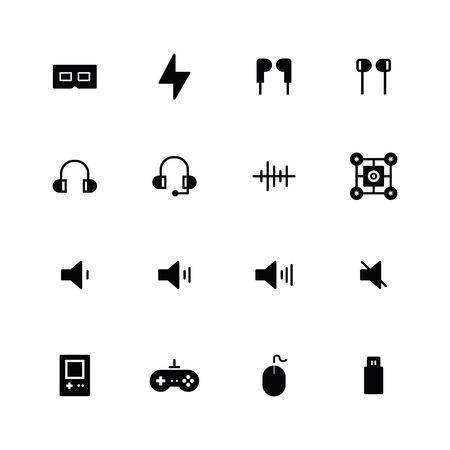 Multimedia solid icon design