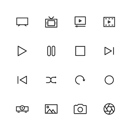 Multimedia line icon design
