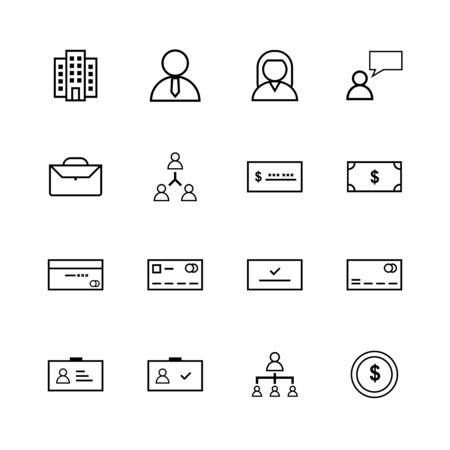 Business line icon design