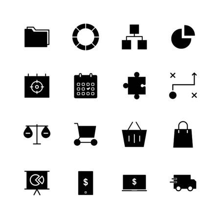 Business solid icon design Illustration