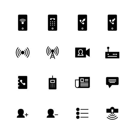 Communication solid icon design