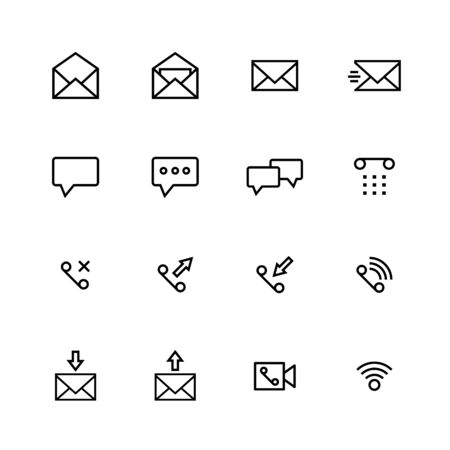 Communication line icon design