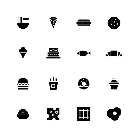 Food icon design set
