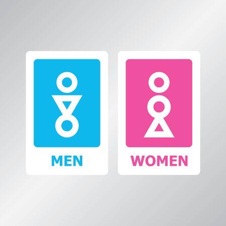 Restroom sign Векторная Иллюстрация