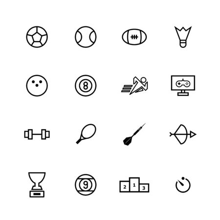 Sport line icon set design