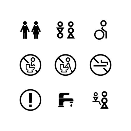 Toilet Icon set design Illustration