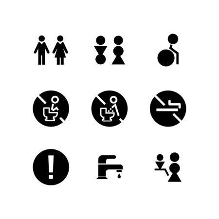 Toilet icon set design