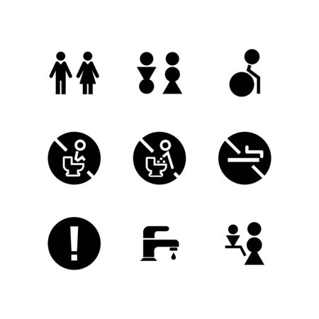 Toilet icon set design