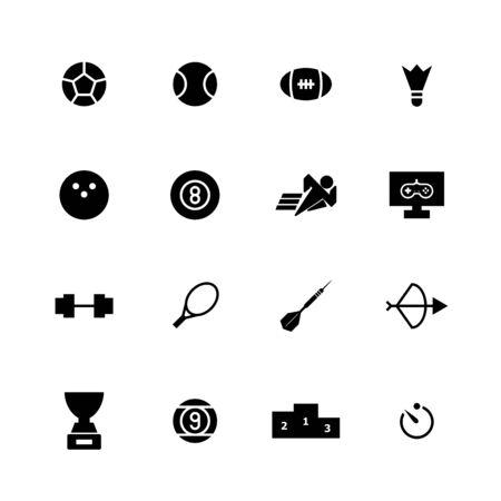 Sport solid icon design set