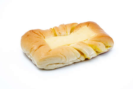 Baked bread with slice cheese