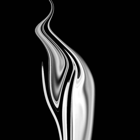 Vector abstract background black color with smoke white shape