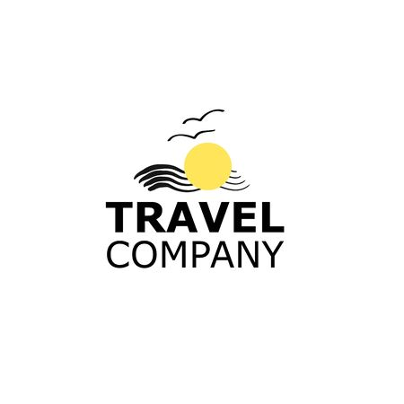 Vector Logo travel agency symbol sea on white