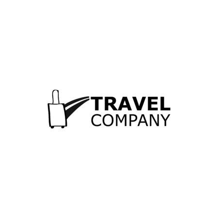 Vector Logo travel agency symbol road on white