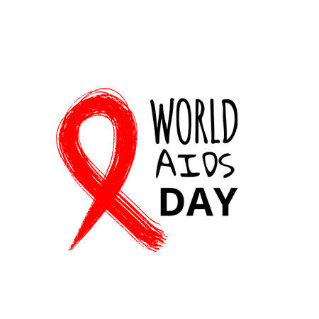 Symbol AIDS stylized red ribbon for World AIDS Day. Perfect for poster or t-shirt. Vector