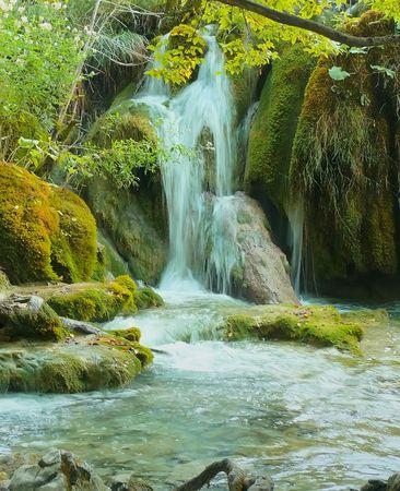 Waterfall. Stockfoto