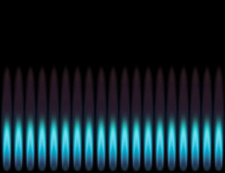 Blue flame. Stock Photo