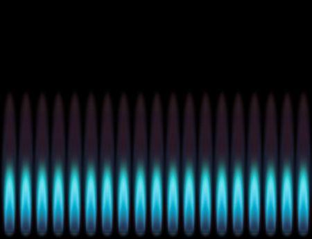 butane: Llama azul.