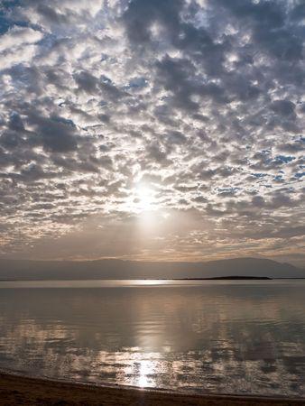 Sunrise over the Dead Sea in Israel. Stock Photo - 6544465
