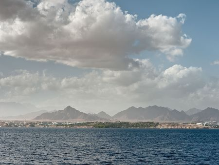 Clouds over the Red Sea near Sharm al- Sheikh. Stock Photo