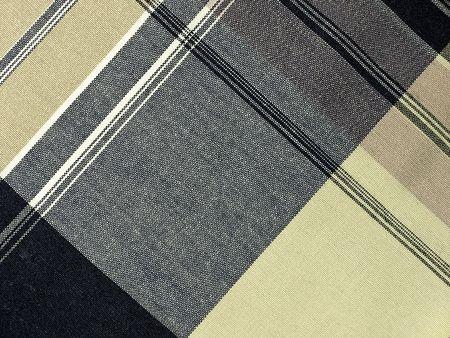 Cotton checkered fabric closeup located diagonally