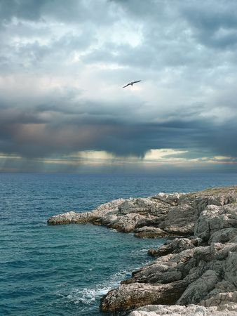 Storm clouds over the sea. Stock Photo - 7184480