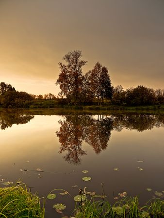 A beautiful sunrise over Lake Forest photo