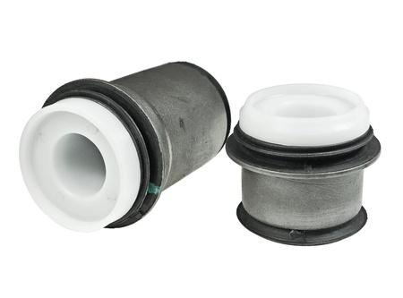 Bushing (bearing) rubber-metal on white background