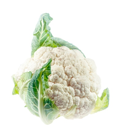 Cauliflower closeup isolated on white background Stock Photo - 11919360