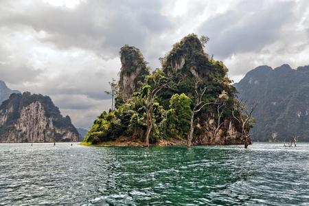 Tropical Landscape  Cheow Lan lake   photo