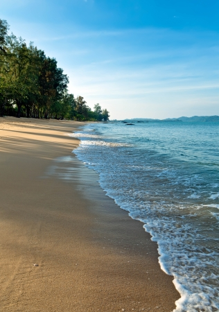 Sandy beach in the early morning Stock Photo - 13783697
