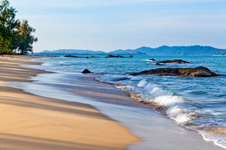 Marine landscape   Khao Lak Beach  Thailand  photo