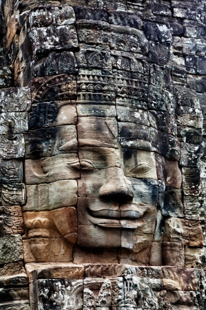 Stone bas-relief of Buddha in the temple of Angkor Thom Stock Photo - 13803185