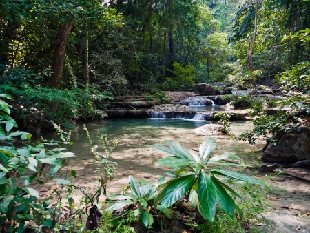 Tropical landscape. Erawan Reserve in northern Thailand. photo