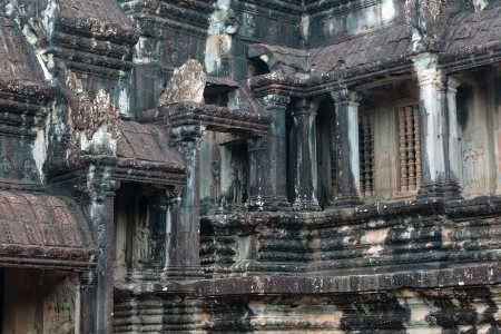 The architecture of Angkor Wat temple in Cambodia photo
