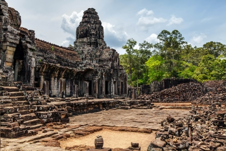 The ruins of Angkor Thom Temple in Cambodia photo