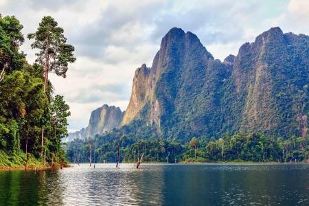Cheow Lan lake  Khao Sok National Park  Thailand