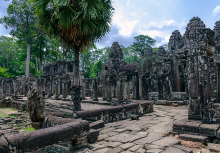Prasat Bayon  The ruins of Angkor Thom Temple in Cambodia photo