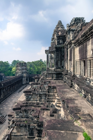 khmer: The ancient architecture of Angkor Wat temple in Cambodia