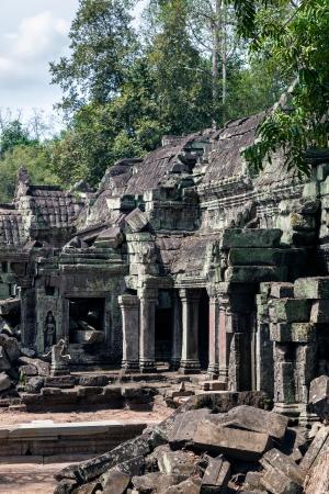 khmer: The ruins of Ta Prohm Temple in Cambodia