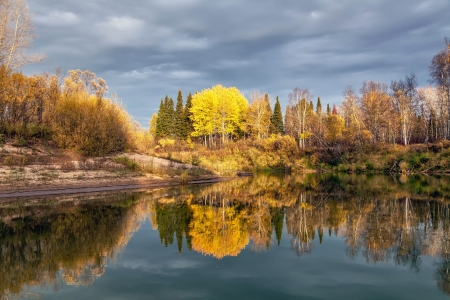 Autumn Evening on the River photo