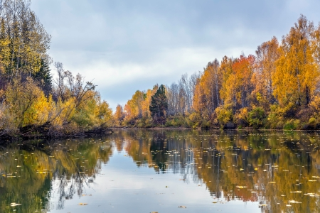 Autumn in Siberia Stock Photo - 16405012