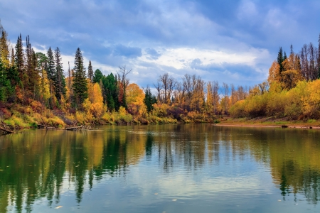Herbst in Sibirien Standard-Bild