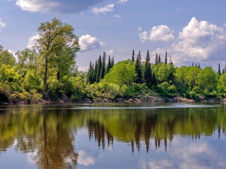 Landscape with the river  Stock Photo