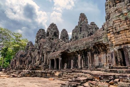 bayon: Prasat Bayon. The ruins of Angkor Thom Temple in Cambodia