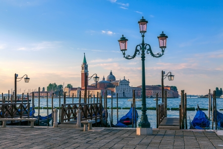Embankment in Venice at sunrise photo