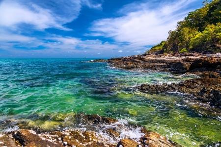 koh samet: Andaman Sea and the coast of Koh Samet in Thailand Stock Photo