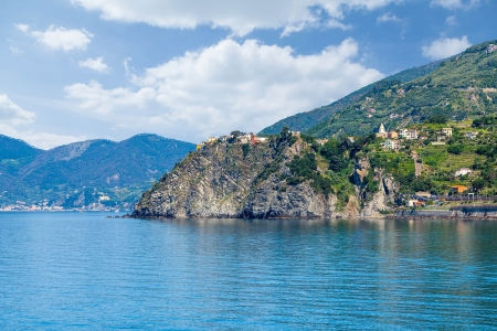Panorama of the coast of the Cinque Terre in Italy   photo