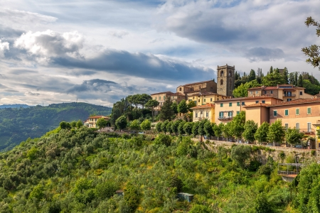 Italian medieval town of Montecatini Alto in Tuscany